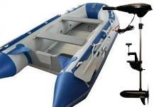 Csónak, motor, akkumlátor